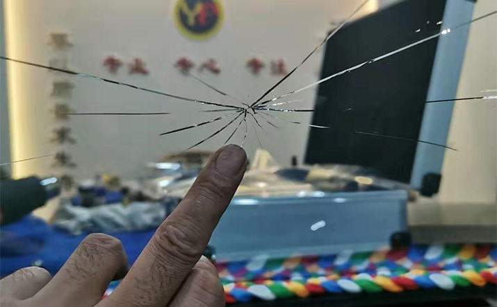 超严重玻璃修复前